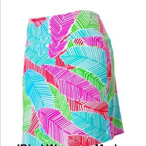 IBKUL   Marley Feather Print Golf Skort